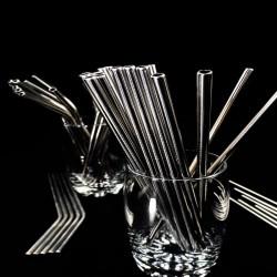 Pailles réutilisables en inox droites | Pailles & Co