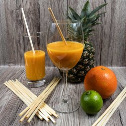 Natural wheat straws