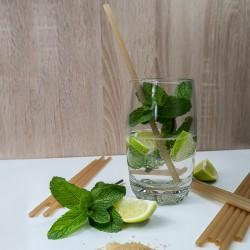 Cocktail avec une paille en canne à sucre | Pailles & Co