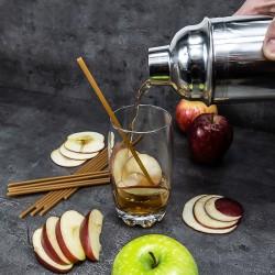 Pajitas comestibles de fibra de manzana