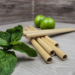 Pailles réutilisables en bambou, écologiques | Pailles & Co