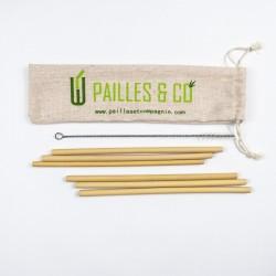 Kit pailles en bambou 4-6 mm | Pailles & Co