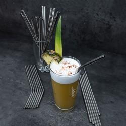 Cocktail avec paille réutilisable en inox droite | Pailles & Co