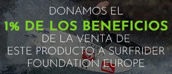 Un porcentaje de los beneficios obtenidos con la venta de este producto será devuelto a la ONGI Surfrider Foundation Europe.